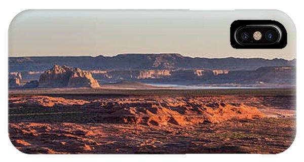 Lake Powell Sunrise Panorma IPhone Case