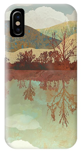 Abstract Landscape iPhone Case - Lake Side by Spacefrog Designs