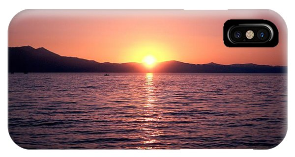 Lake Sunset 8pm IPhone Case