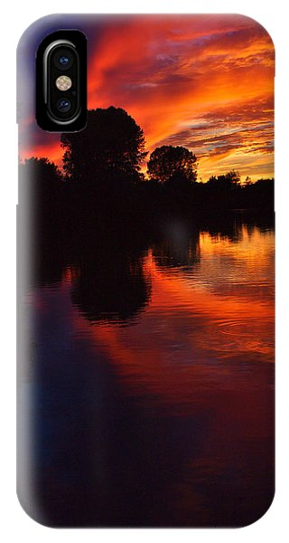 IPhone Case featuring the photograph Lake Sunset Reflections by Jeremy Hayden