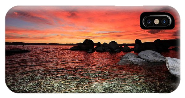 IPhone Case featuring the photograph Lake Tahoe Liquid Dreams by Sean Sarsfield