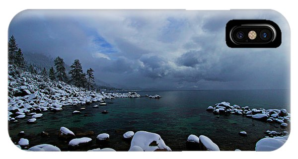 Lake Tahoe Snow Day IPhone Case