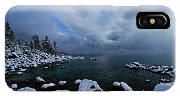 Lake Tahoe Snow Day IPhone Case
