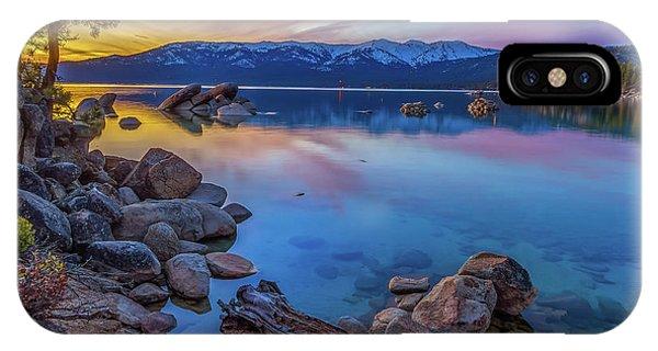 Lake Tahoe Spring Kaleidoscope  IPhone Case