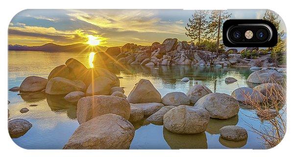 Lake Tahoe Spring Starburst IPhone Case