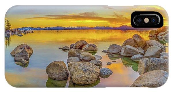 Lake Tahoe Spring Sunset Panoramic IPhone Case
