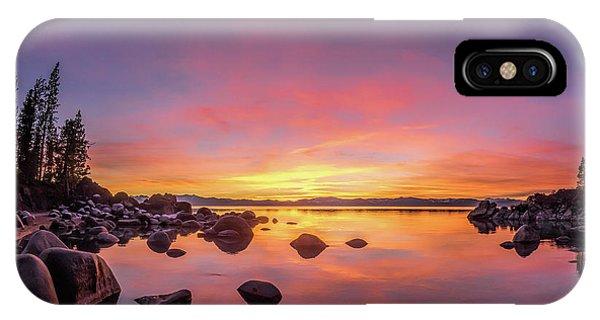 Lake Tahoe Sunset Peace IPhone Case
