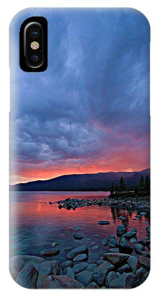Lake Tahoe Sunset Portrait 2 IPhone Case