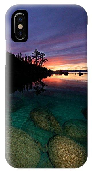 Lake Tahoe Sunset Portrait IPhone Case