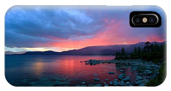 Lake Tahoe Sunset IPhone Case