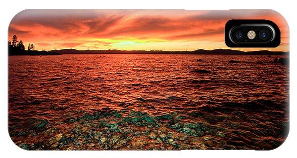 Lake Tahoe...blood Moon Sunset IPhone Case