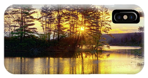 Lake Tiorati Golden Sunrise IPhone Case