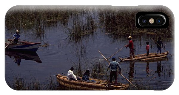 Lake Titicaca Reed Boats IPhone Case