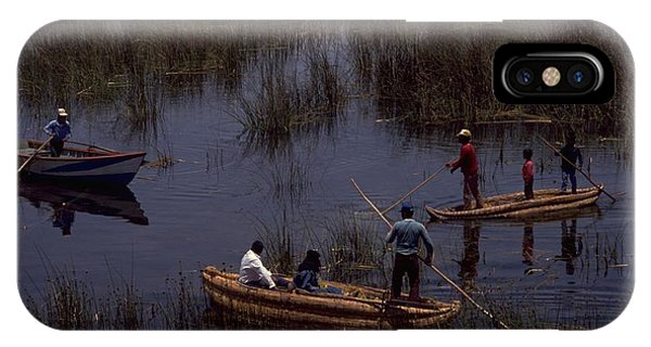 Michel Guntern iPhone Case - Lake Titicaca Reed Boats by Travel Pics
