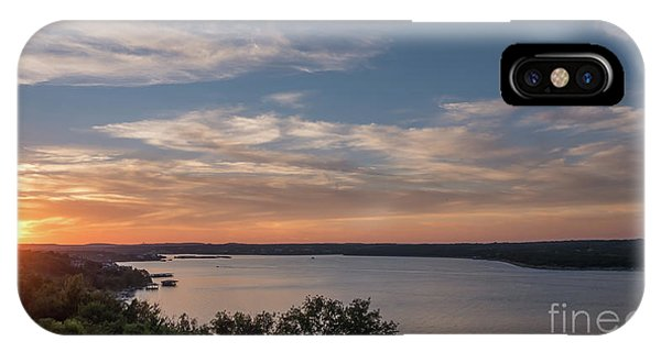 Lake Travis During Sunset With Clouds In The Sky IPhone Case