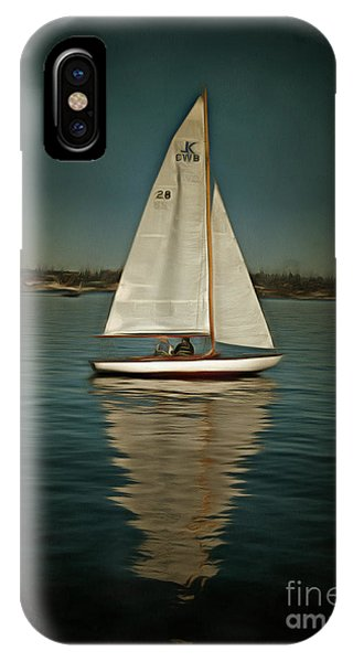 Lake Union Day Sailing IPhone Case