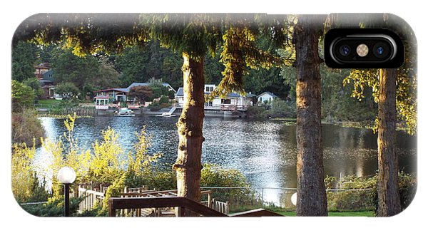 Beverly Lake View In Fall IPhone Case