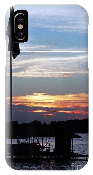 Lake View Sunset IPhone Case