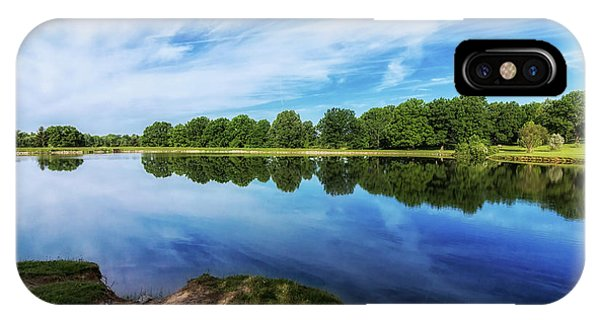 Angle iPhone X Case - Lake View by Tom Mc Nemar