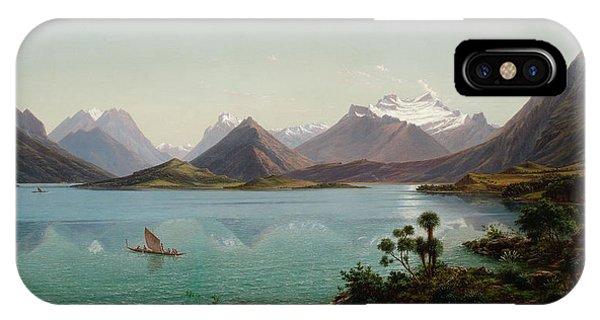 Lake Wakatipu With Mount Earnslaw. Middle Island New Zealand IPhone Case