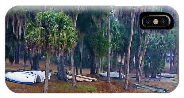 Lake Wauburg Rain IPhone Case