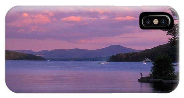 New Hampshire iPhone Case - Lake Winnipesaukee Evening by John Burk