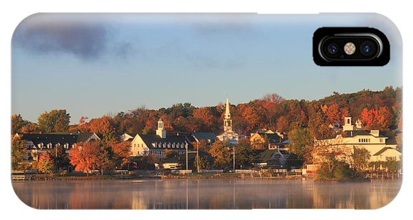 Lake Winnipesaukee Meredith Autumn Morning IPhone Case