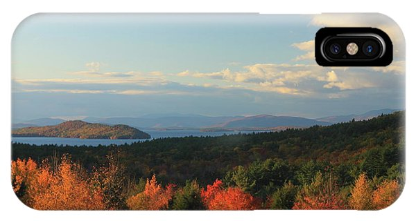 Lake Winnipesaukee Overlook In Autumn IPhone Case
