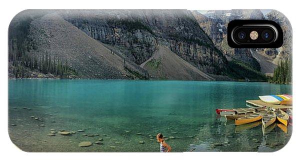 Lake With Kayaks IPhone Case