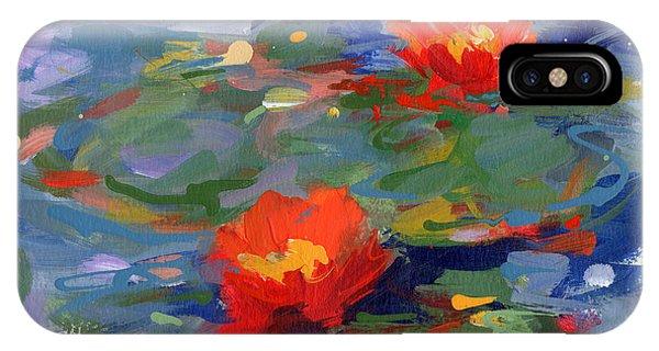 Waterlily iPhone Case - Lakeside #3 by Lisa Palombo
