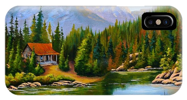 Lakeside Cabin IPhone Case