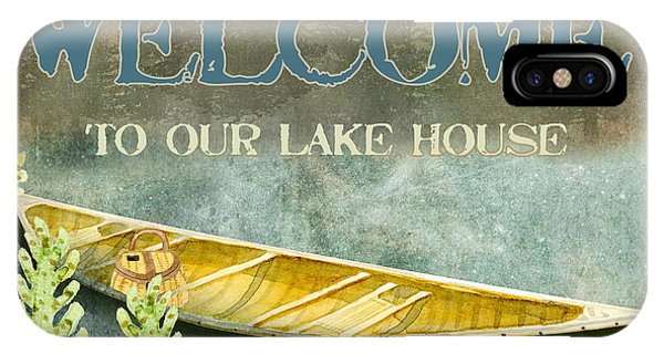 Cabin iPhone Case - Lakeside Lodge - Welcome Sign by Audrey Jeanne Roberts