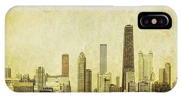 Chicago Skyline Art iPhone Case - Lakeside Views by Andrew Paranavitana