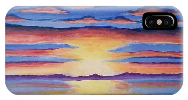 Lakeview Sunset IPhone Case