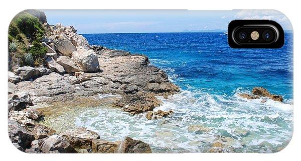 Lakka Coastline On Paxos IPhone Case