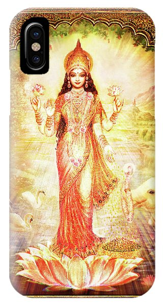 Lakshmi Goddess Of Fortune With Lighter Frame IPhone Case