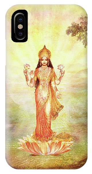 Lakshmi With The Waterfall IPhone Case