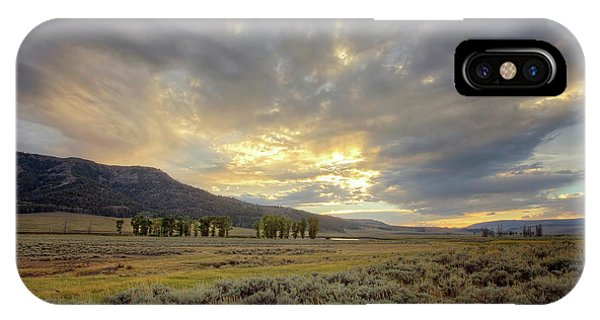 Lamar Valley Sunset IPhone Case