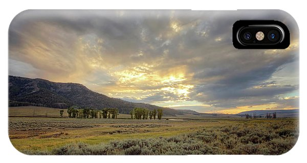 Lamar Valley Sunset IPhone Case