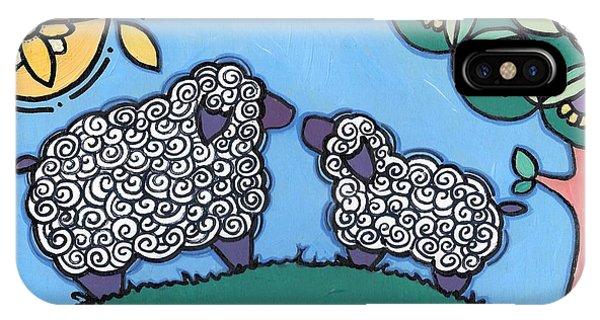Lamb And Mama Sheep IPhone Case