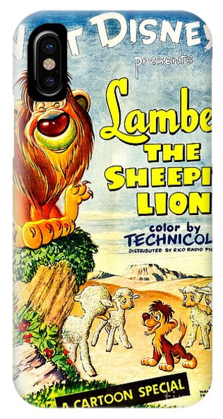 iPhone Case - Lambert The Sheepish Lion, 1952 Walt Disney Cartoon by Zal Latzkovich