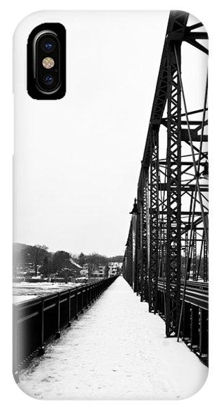 Lambertville New Hope Bridge In Winter IPhone Case