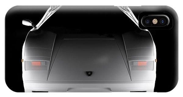 Lamborghini Countach 5000 Qv 25th Anniversary - Front View  IPhone Case
