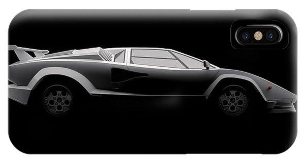 Lamborghini Countach 5000 Qv 25th Anniversary - Side View IPhone Case