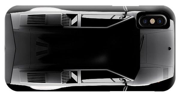 Lamborghini Countach 5000 Qv 25th Anniversary - Top View IPhone Case