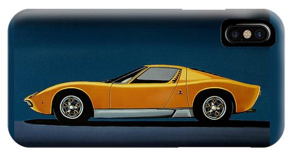 Lamborghini Miura 1966 Painting IPhone Case