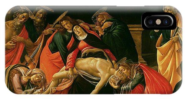 Botticelli iPhone Case - Lamentation Of Christ by Sandro Botticelli
