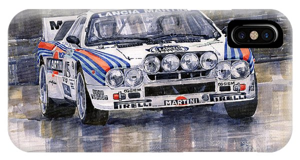 Car iPhone X Case - Lancia 037 Martini Rally 1983 by Yuriy Shevchuk