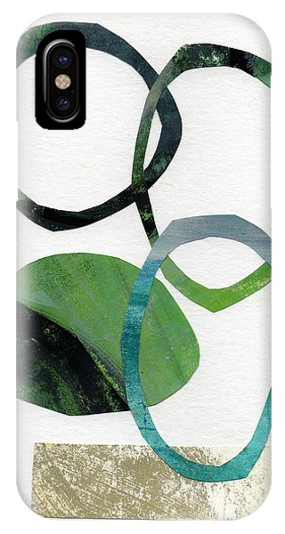 Watercolor iPhone Case - Land And Sea- Abstract Art by Linda Woods