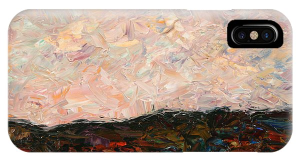Impressionism iPhone X Case - Land And Sky by James W Johnson